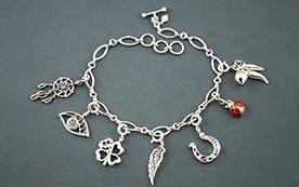 Signature Silver Charm Bracelets