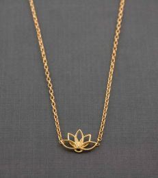 Gold-Plated Silver Sattva Lotus Necklace by fourseven
