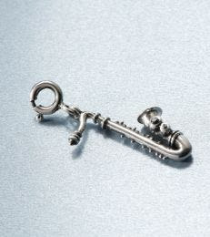 Saxophone charm in sterling silver by fourseven