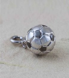 Football Charm in Sterling Silver by fourseven
