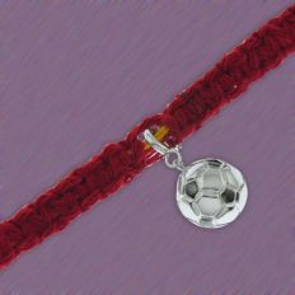 Adjustable Moli Rakhi with Silver Football Charm