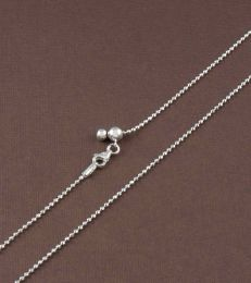 Adjustable Silver Bead Slider Chain by FOURSEVEN