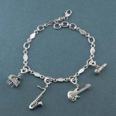 All That Jazz Silver Charm Bracelet