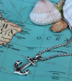 Anchor Necklace by fourseven