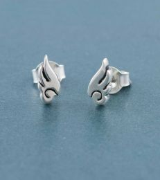 Silver Inner Angel Stud Earrings by Fourseven