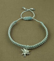 Simply Charming Friendship Bracelet In Ivory With Believe In Magic Unicorn Charm by fourseven