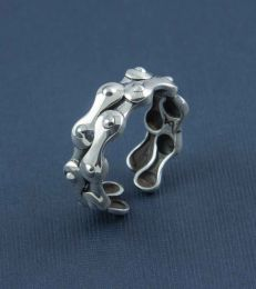 Biker Chain Band Ring by fourseven