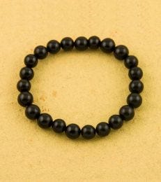 Black Agate Bead Bracelet by fourseven