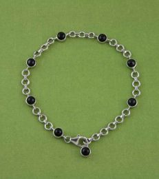 Black Spinel Charm Bracelet by fourseven