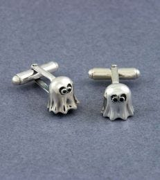 Boo! Cufflinks in Sterling Silver by fourseven