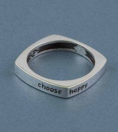 Choose Happy Message Ring by fourseven