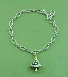 Simple Elegance Marquis Charm Bracelet with Oh Christmas Tree! Charm