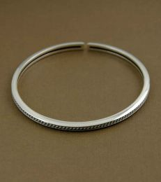 Classic Rope Channel Adjustable Bangle by fourseven
