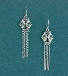 Colourful Kandeel Earrings in Silver and Black by fourseven