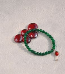 fourseven Wine Glass Bead Charm Bracelet