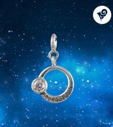 Courageous Aries Zodiac Charm with Crystal Quartz by fourseven