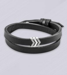 Create Your Own Path Story Bead Faux Leather Band Bracelet