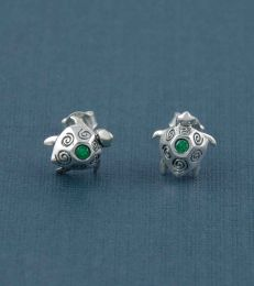 Cruisin the Current Sea Turtle Stud Earrings by fourseven