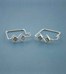 Deco Doubles Square Hoop Earrings by fourseven