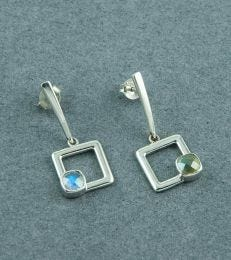 fourseven Deco Square Drop Dangler Earrings
