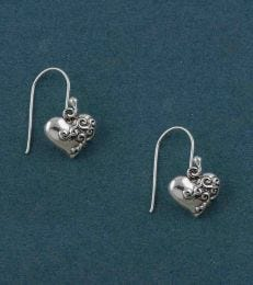 Dil Se Heart Dangler Earrings by fourseven