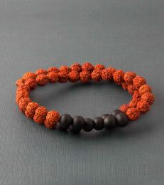 Double Layer Rudraksh Bracelet by fourseven