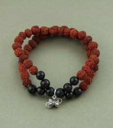 Rudraksh bracelet with Damru Charm by fourseven