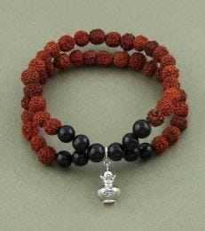 Rudraksh Bracelet with Kalash Charm fourseven