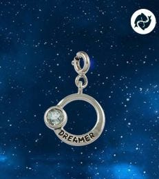 Dreamer Pisces Zodiac Charm by fourseven