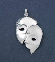 Emotions Mask Pendant by fourseven