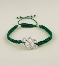 Eternal Connection Braided Friendship Bracelet In Green by fourseven