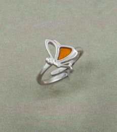Flutterby Butterfly Adjustable Ring by fourseven