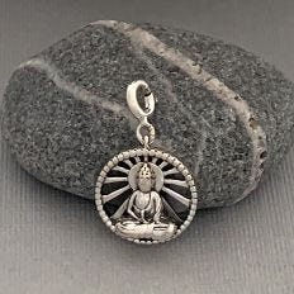 Rays of Buddha Silver Charm