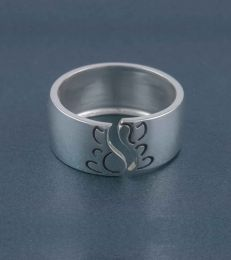Ganesha Band Ring - Adjustable in sterling silver
