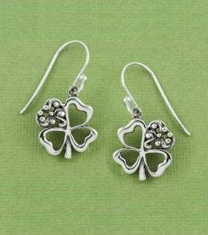 Good Luck Clover Earrings by fourseven