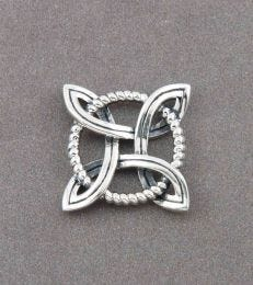 Good Luck Celtic Knot Silver Pendant