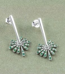 Green Starburst Earrings by fourseven
