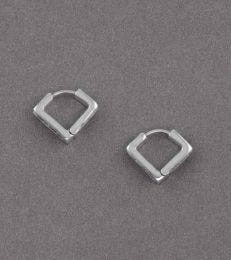 Hinged Square Hoop Earrings by fourseven