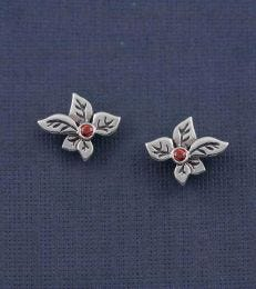 Silver Holly Stud Earrings by Fourseven