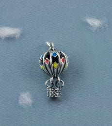 Life's An Adventure Hot Air Balloon Charm by fourseven