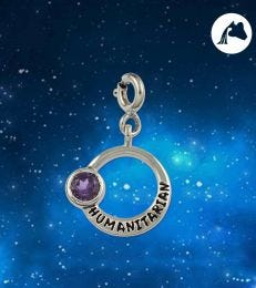 Humanitarian Aquarius Zodiac Charm by fourseven