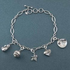 Just for Mom Silver Charm Bracelet