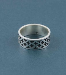 Lattice Band Ring for Him by fourseven