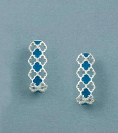 Lattice Half Hoops in Turquoise by fourseven