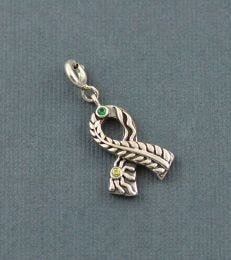 Life is Beautiful Ribbon Charm in Grey Background by fourseven
