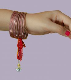Buy Silver Lumba Moli Rakhi with Light up my World Diya Charm Online