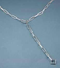 Long Link Charm Necklace by fourseven