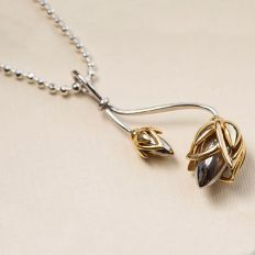silver lotus bud necklace by fourseven