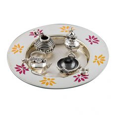 Lotus Petal Miniature Thali With Charms by fourseven