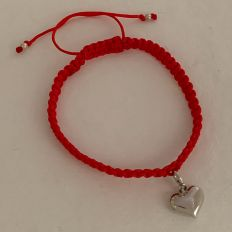 Silver Loving Heart Adjustable Valentine Bracelet
